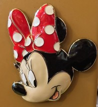 Disney Parks Minnie Mouse Face Acrylic Metal Magnet New - $19.38