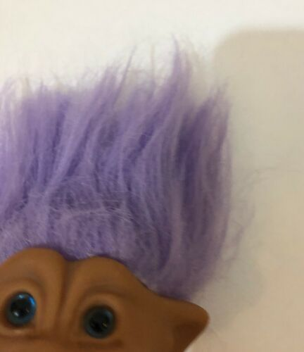 Vintage Troll Dolls 3 Piece Lot Purple Teal Blue Hair Pink Soft Body