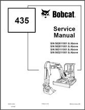 Bobcat 435 Compact Excavator Service Repair Manual on a CD - $12.00