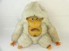 1960's VTG MCM Large White Monkey Ape Plush w/ Rubber Face Toy & Novelty Co Inc - $31.66