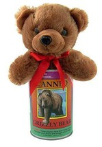 "Canned Critter Stuffed Grizzly Bear 6"" Tall Cute Plush New Sealed Free S... - $13.85"