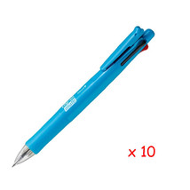 Zebra B4SA1 Clip-on multi F 0.7mm Multifunctional Pen (10pcs)-Light Blue - $38.32