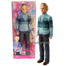 Year 2008 Barbie Fashion Fever 12 Inch Doll KEN M9330 in Blue Turtleneck... - $74.99