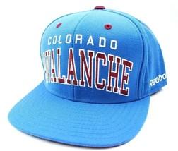 Colorado Avalanche Reebok NF93Z NHL Script Logo Snapback Hockey Cap Hat ... - $20.85