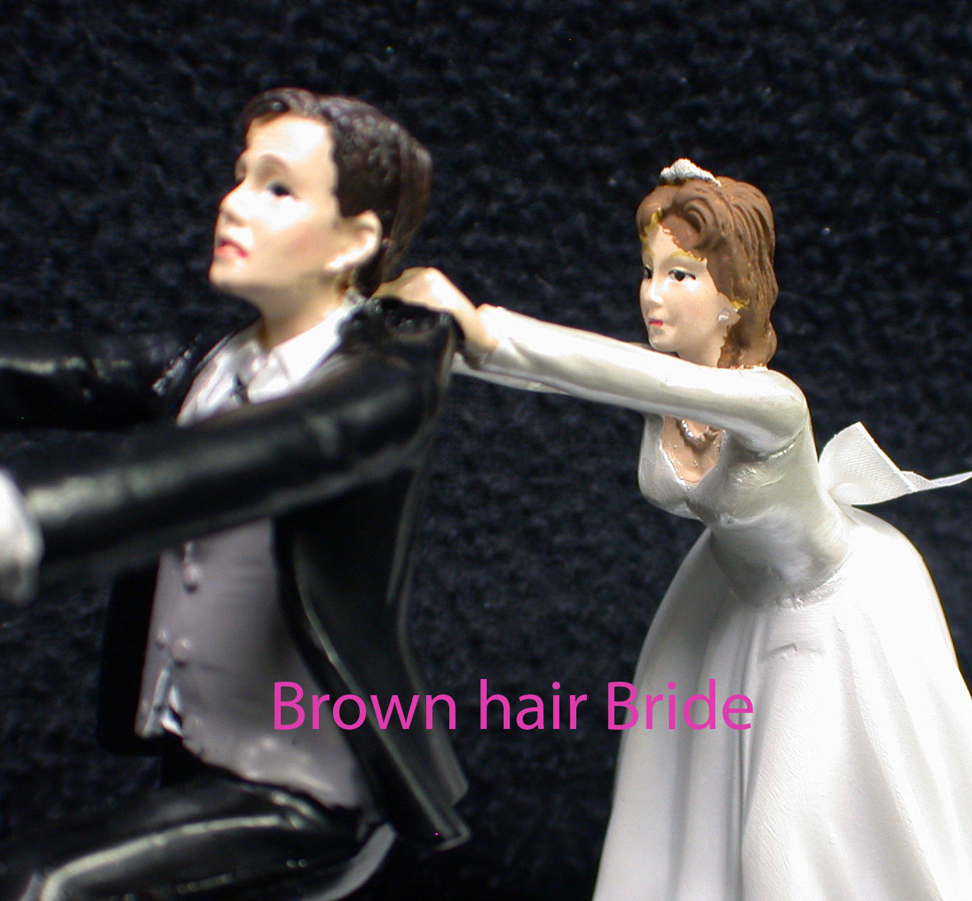 Wedding Cake Topper W/ RED Honda Motorcycle White Black Hispanic Groom top NEW