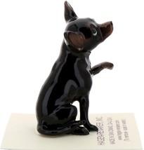 Hagen-Renaker Miniature Ceramic Dog Figurine Chihuahua Hand Shake Black image 1