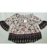 new Beach Lunch Lounge women top blouse Ellora LPT1146 pink floral M MSRP - $31.37