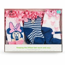 Disney Store Baby Girls Minnie Mouse Sock Set 3-Pack, Multicolor - $11.50