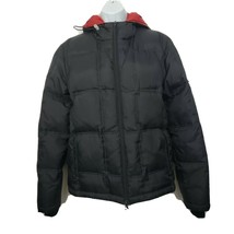 DKNY Puffer Coat Womens Size S Down Fill Black Hooded - $49.49