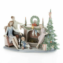 Lladro Retired A family Christmas Statue Figurine 01008260 New in Box 8260 - $2,804.85