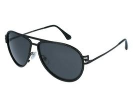 VERSACE GRECA STARS Aviator VE2171B Matte Black Metal Sunglasses 2171 Un... - $204.77