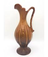 """Royal-Haeger Vase Art Deco Pottery Brunt Orange Rust Nutmeg Color 18"""" USA - $44.99"""