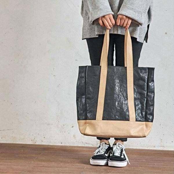 On Sale, Full Grain Leather Bag, Tote Bag, Large Shoulder Bag, Shopping Bag image 3