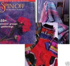 Spin-off magazine winter 1998: russian style lace scarf, buffalo pillow, socks  - $16.78