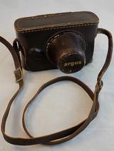 MINOLTA HI MATIC F Leather Camera Case Black 35mm Camera Carrying Case w... - $12.86