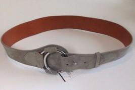 Ralph Lauren Mujer Ante Gris Cinturón Talla Mediana - $208.77