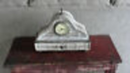 Working mantel clock, battery, with drawer - $33.25
