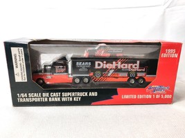 Racing Champions Sears DieHard NASCAR 1:64 Team Transport Bank 1995 - $30.00