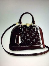 Auth Louis Vuitton Alma BB Hand Bag Burgundy Medium Monogram Logo Zipper LVB0196 - $2,051.28
