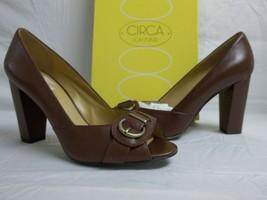 Circa Joan & David  8.5 M Found It Wine Leather Open Toe Heels New Women... - $68.31