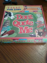 "Dont Quote Me"" Board Game - TIME for Kids Edition FACTORY SEALED - $18.69"