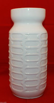 Vintage Carstens West Germany Pottery White Brown Tall Vase 28.5cm 11.25... - $102.70