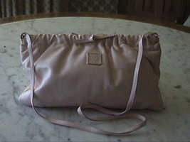 Pink  Cross Body Leather Anne Klein   Clutch Bag/ Purse with Leather Strap - $18.00