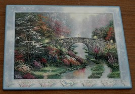 Collectible Thomas Kinkade Stillwater Bridge Porcelain Plate, 1999, VGC - $24.74