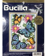 """Bucilla Counted Cross Stitch  5 x 7"""" Butterflies 42018 by Joan Elliot 1998 - $7.37"""