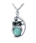 NEW Women Vintage Crystal Owl Pendant Necklace Long Chain Rhinestone Jew... - $4.00