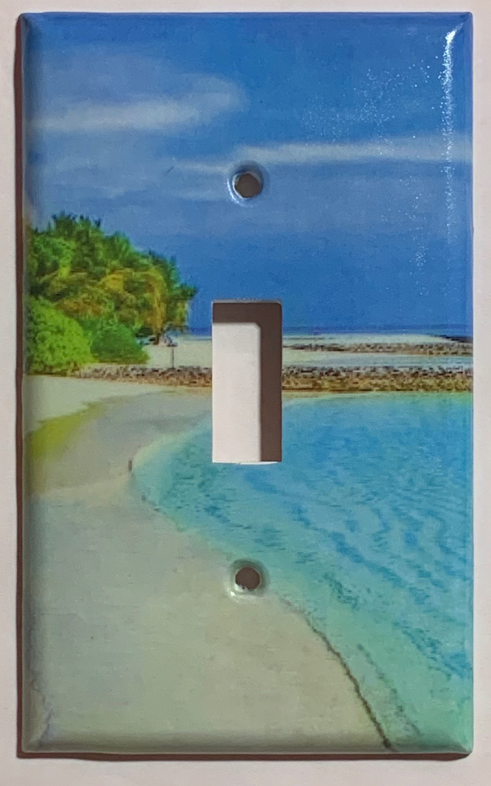 Blue Tropical beach ocean Light Switch Power Outlet Wall Cover Plate Home decor