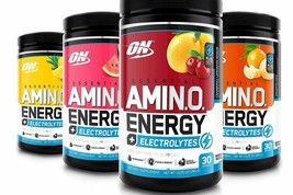 Optimum Nutrition Amino Energy + Electrolytes 30 serve NEW FRESH  *Choose Flavor - $18.95