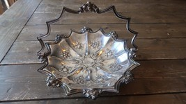 "Antique Silverplate Brides Bridal Basket Monogramed PCP? 11.75"" x 8.5"" - $187.69"