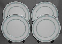 Set (4) Oxford (Lenox) LADY LOVE PATTERN Bone China DINNER PLATES Made i... - $39.59