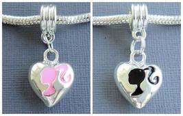 Silver plated Pendant BARBIE GIRL For European Charm Bracelet and Neckla... - €2,89 EUR