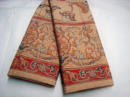 2 KING Pillowcases mw New Ralph Lauren NORTHERN CAPE SATEEN fabric beige... - $89.99