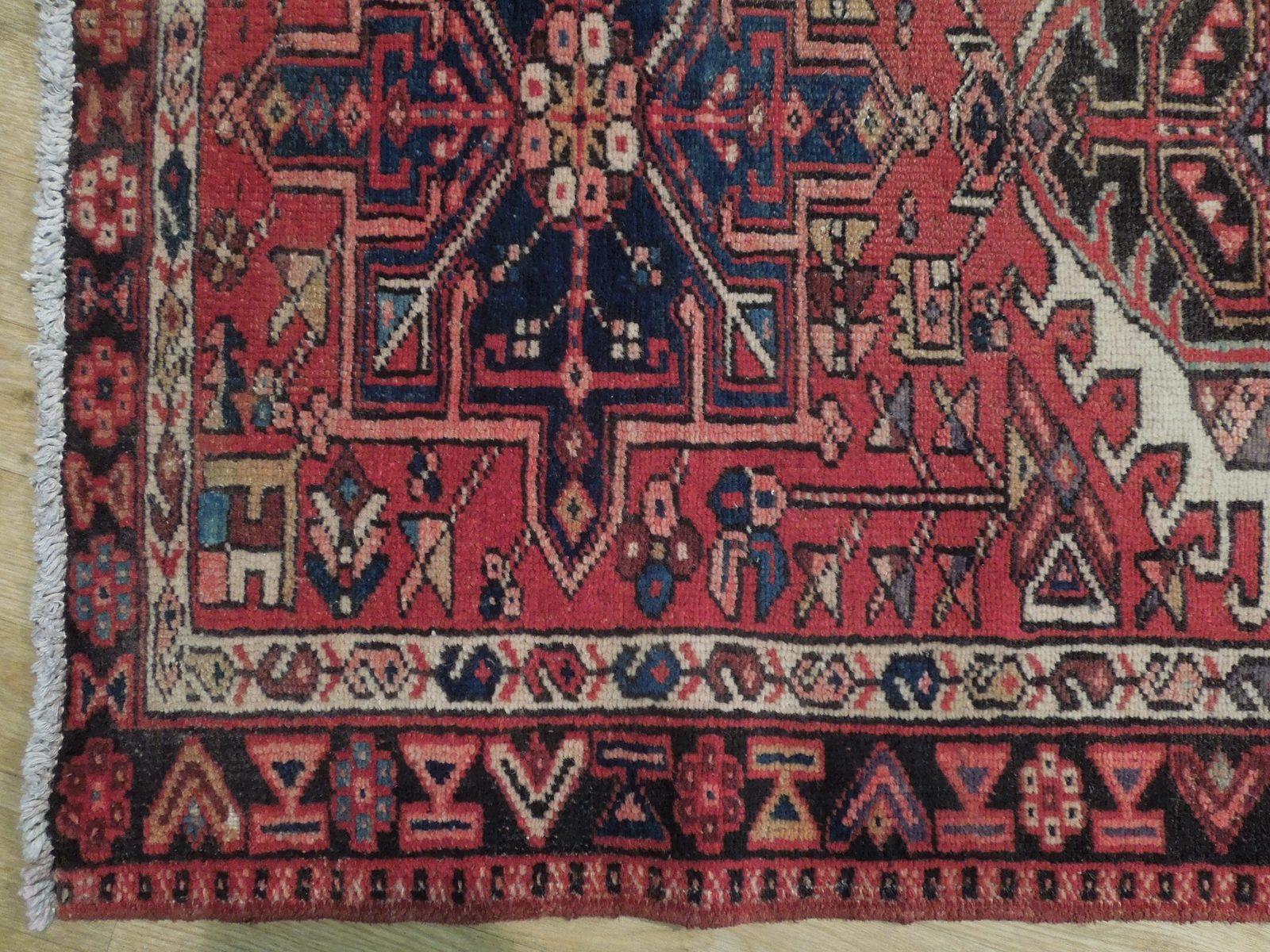 Red 3 x 13 All-Over Classic Tribal Design Runner Karaja Persian Handmade Rug image 7