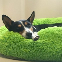 Dog Long Plush Dounts Beds Calming Hondenmand Kennel Super Soft Fluffy C... - $22.99+