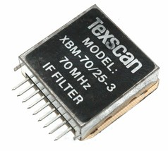 Texscan MODEL: XBM-70/25-3, 70MHz IF FILTER.  Lot of 1, 3, or 10. - $5.65+