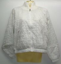 Under Armour Size Small NYLON BOMBER White Jacket Coat New Womens Clothing - $98.01