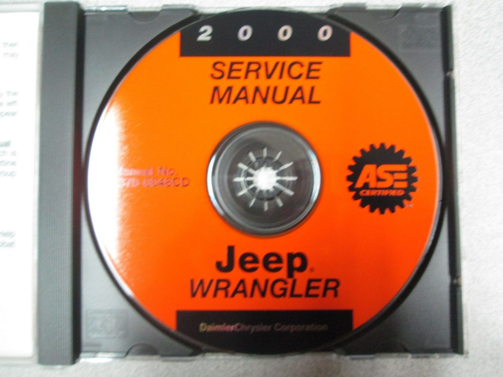 2000 JEEP WRANGLER Service INFORMATION Shop Repair Manual CD OEM BRAND NEW