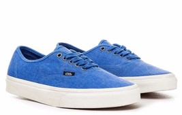 VANS Authentic (Overwashed) Blue/True White Men's Skate Shoes NEW - $41.95