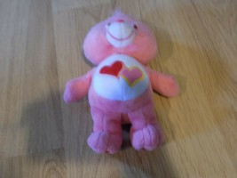 "9"" Love A Lot Bear Care Bear Bean Bag Plush 2002 Toy Pink w Two Hearts T... - $12.00"