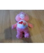 "9"" Love A Lot Bear Care Bear Bean Bag Plush 2002 Toy Pink w Two Hearts T... - $12.00"