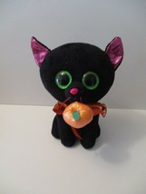 "Beanie Boos Ty Black Cat Potion Green Eyes Glitter Halloween Stuffed9"" T... - $15.00"