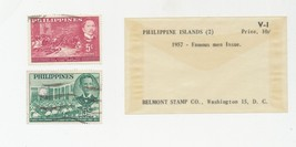 1957 Australia Christmas Issue Phillipines Famous Men Belmont Stamp Co F... - $3.79