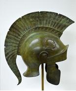 Bronze Attic Roman Great helmet marble based stand - $749.90