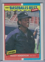 RICKEY HENDERSON 1987 Fleer Sluggers/Pitchers #18  D8098 - $1.76