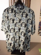Mens XL Hawaiian Shirt Hula Girls 100% Rayon Campia Moda - $24.75
