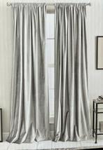 "DKNY Modern Knotted Velvet Silver 50"" X 84"" Rod Pocket Curtains - $79.19"